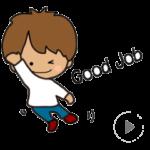 LINE スタンプ第57弾「やんちゃな男の子NO.1☆動くスタンプ」 絶賛・好評につき発売中!! クリエイティブ事業部